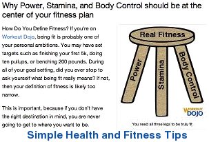 Easy to understand health and fitness tips