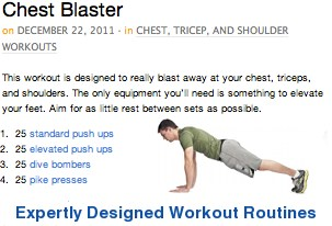 Expertly designed workout routines